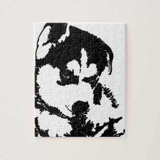 Husky Pup With Attitude Jigsaw Puzzle