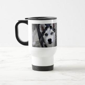 Husky Puppy Plastic Travel Mug