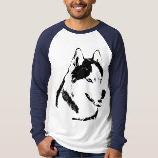 Husky Shirt Baseball Jersey Cool Husky Dog Shirt