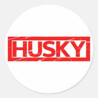 Husky Stamp Classic Round Sticker