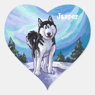 Husky Stationery Heart Stickers