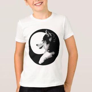 Husky T-Shirt Kids Sled Dog Kid Husky Ringer Shirt