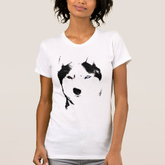 Husky T-shirt Wolf Husky Sled Dog Husky Shirts