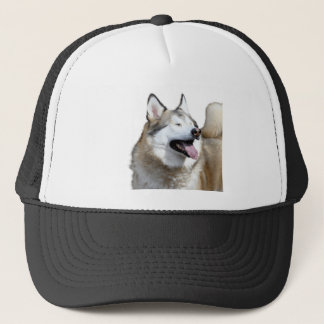 Husky With Closed Eyes Trucker Hat
