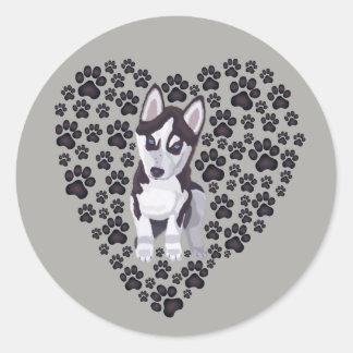 Huskylove Classic Round Sticker