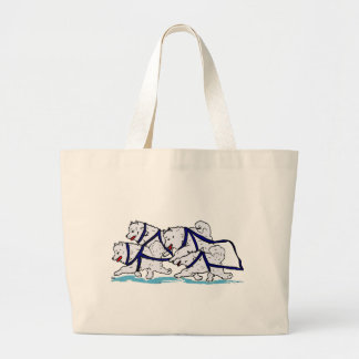 Huskytoons Samoyed Team Large Tote Bag