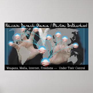 Hussein Barack Obama/Muslim Brotherhood Poster
