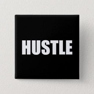 Hustle 15 Cm Square Badge