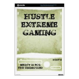 HUSTLE Extreme Gaming Xbox360 Console Skin Decals For Xbox 360 S