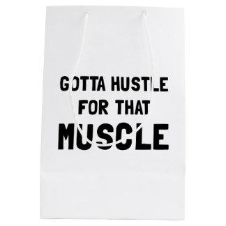 Hustle For Muscle Medium Gift Bag