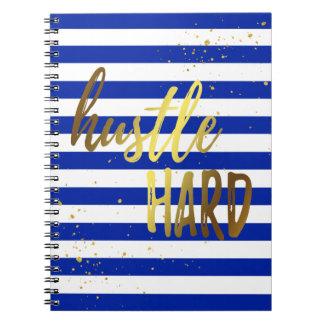 Hustle Hard Spiral Notebook