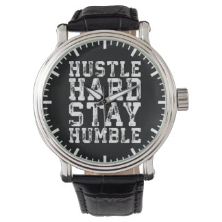 Hustle Hard, Stay Humble - Inspirational Words Watch