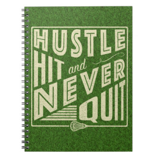 Hustle Hit and Never Quit, Lacrosse Notebook