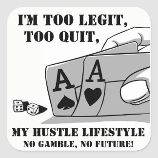 HUSTLE LIFESTYLE SQUARE STICKER