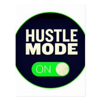 Hustle Mode On Postcard