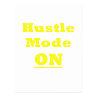 Hustle Mode On Postcard