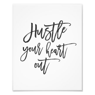 Hustle Your Heart Out | Watercolor Art Print
