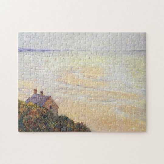 Hut at Trouville Low Tide Monet Fine Art Jigsaw Puzzle