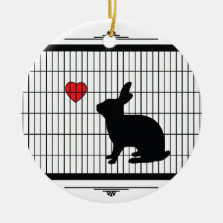 HUTCH BUNNY CERAMIC ORNAMENT