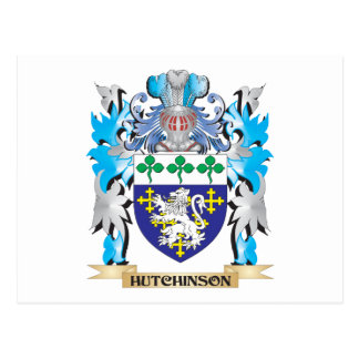 Hutchinson Coat of Arms - Family Crest Postcard
