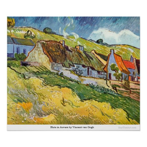 Huts in Auvers by Vincent van Gogh Poster