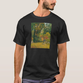 Huts Under the Trees by Paul Gauguin T-Shirt