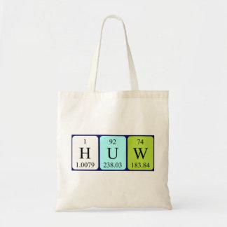 Huw periodic table name tote bag
