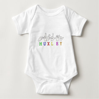 HUXLEY ASL SIGN FINGERSPELLED NAME BABY BODYSUIT