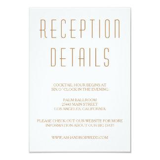 Huxley Modern Wedding Reception card