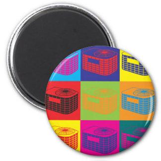 HVAC Pop Art Magnet