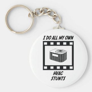 HVAC Stunts Key Ring
