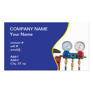 Air conditioning business cards 437 air conditioning for Hvac business card template