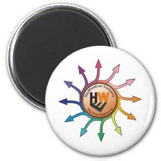 HWE Arrow Circle Rainbow 6 Cm Round Magnet