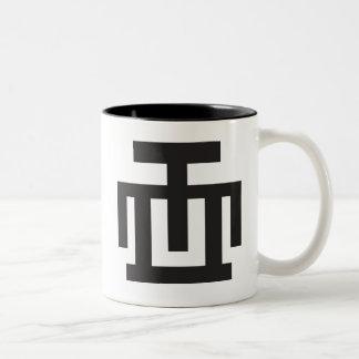 HWE MU DUA | Symbol of Examination Quality Control Two-Tone Coffee Mug