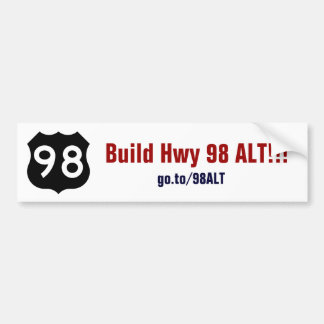 Hwy 98 ALT Bumper Sticker