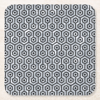 HXG1 BK-GY MARBLE (R) SQUARE PAPER COASTER