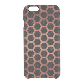 HXG2 BK MARBLE COPPER CLEAR iPhone 6/6S CASE