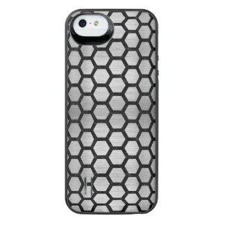 HXG2 BK MARBLE SILVER (R) iPhone SE/5/5s BATTERY CASE