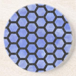 HXG2 BK-MRBL BL-WCLR (R) SANDSTONE COASTER