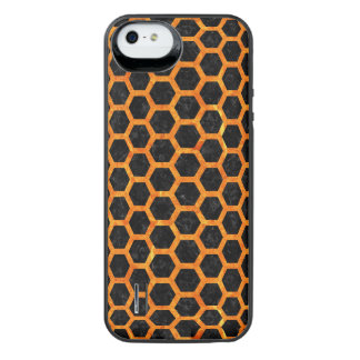 HXG2 BK-OR MARBLE iPhone SE/5/5s BATTERY CASE