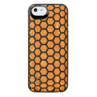 HXG2 BK-OR MARBLE (R) iPhone SE/5/5s BATTERY CASE