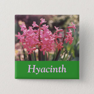 Hyacinth Cluster 15 Cm Square Badge