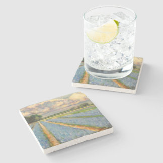 Hyacinth Flowers Triptych image 3 of 3 Stone Beverage Coaster