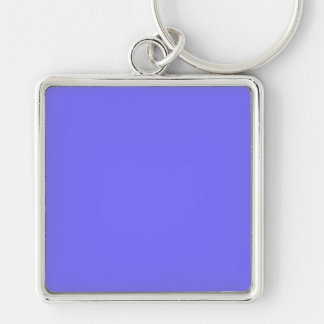 Hyacinth Purple Blue Color Trend Background Silver-Colored Square Key Ring