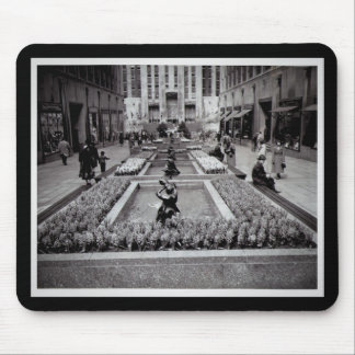 Hyacinths in Bloom Rockefeller Center 1952 NYC Mouse Pad