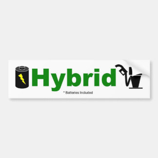 HYBRID batteries included Car Bumper Sticker