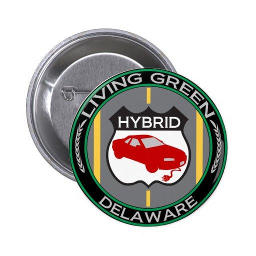 Hybrid Delaware Pinback Button