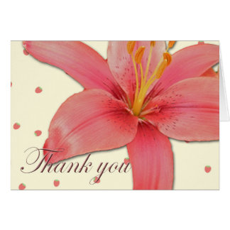 Hybrid Lily Thank You Card