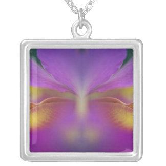 Hybrid orchid, Florida 2 Square Pendant Necklace