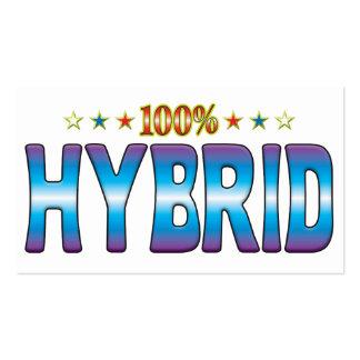 Hybrid Star Tag v2 Business Card Templates